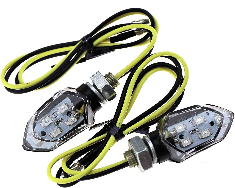 ENET 4/x Affumicato 5/SMD LED Mini Moto indicatori di direzione Lampeggiante Ambra indicatori luci