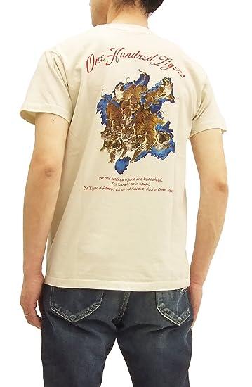 906f6c2b Sun Surf Men's Slim Fit Loopwheeled T-Shirt One Hundred Tigers Tee SS77980  Ecru Japan