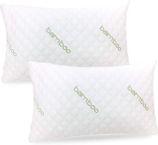 Amazon Com Ik Bamboo Pillow 2 Pack Premium Pillows For