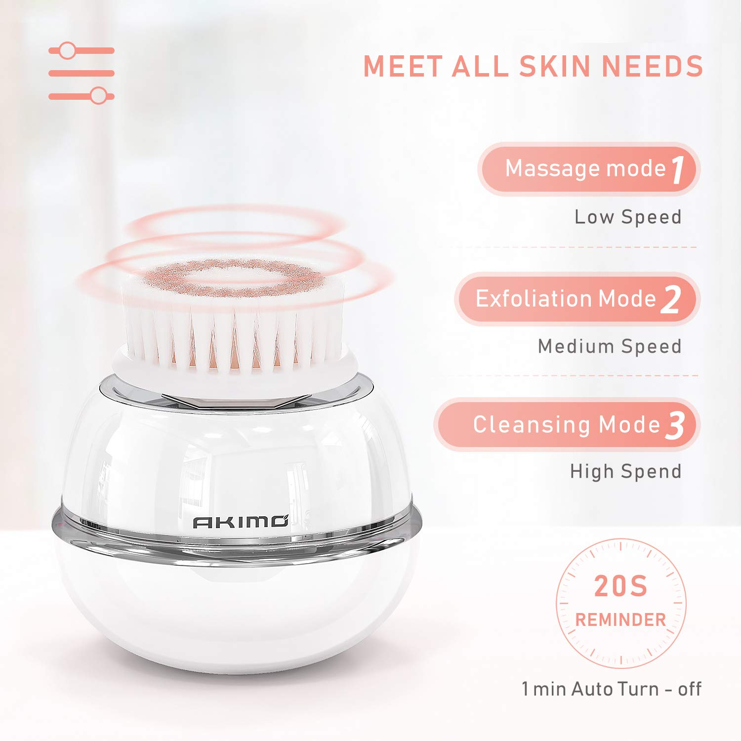 Replacement Head for Akimo Sonic Facial Cleansing Brush: Beauty