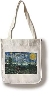product image for Lantern Press Northwest - Van Gogh Starry Night - Bigfoot (100% Cotton Tote Bag - Reusable)