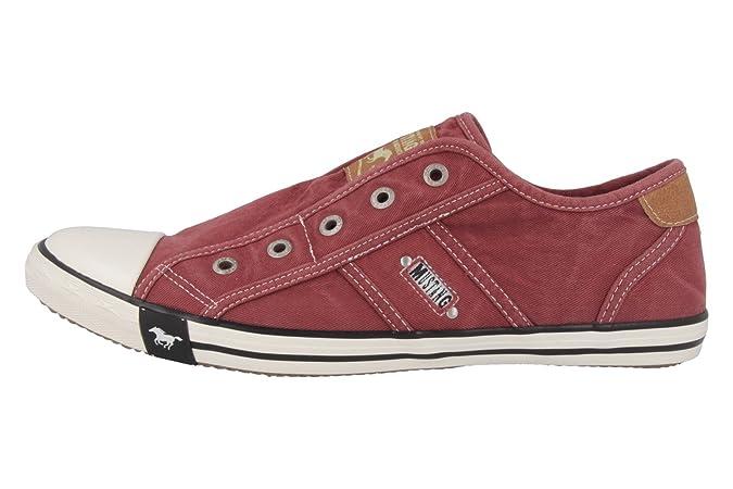 Mustang1099-401-55 - Mocasines Mujer , color Rojo, talla 45 UE: Amazon.es: Zapatos y complementos