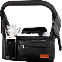 Barnvagnsarrangör med isolerad kopphållare/kopphållare buuggy organiseringsväska universell multifunktionell barnvagn…