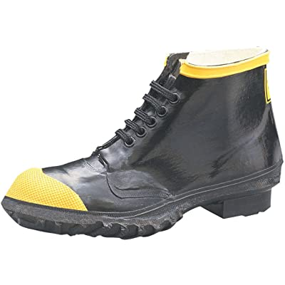 "Ranger 6"" Heavy-Duty Men's Rubber Steel Toe Work Shoes, Black & Yellow (R1141): Home Improvement"