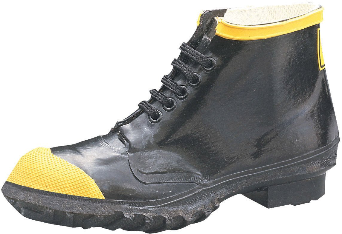 Ranger 6'' Heavy-Duty Men's Rubber Steel Toe Work Shoes, Black & Yellow (R1141) by Honeywell
