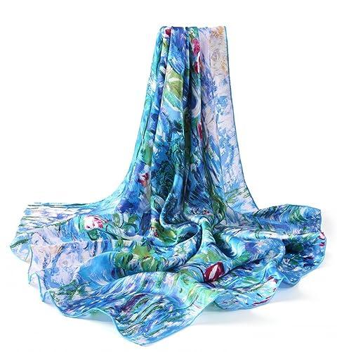 Prettystern- 90cm 100% seta Impressionismo Arte panno Stampa pittura - van Gogh - Peach in fiore