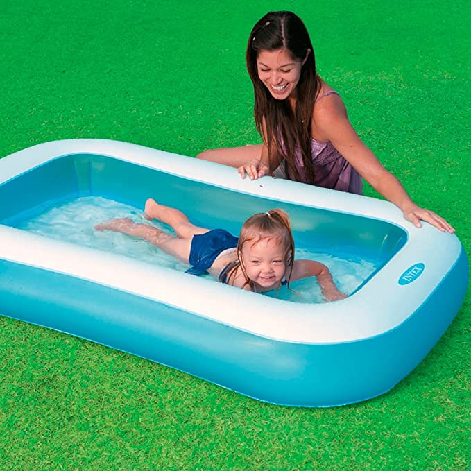 Buy Intex Inflatable Rectangular Pool, Multi Color Online at Low ...