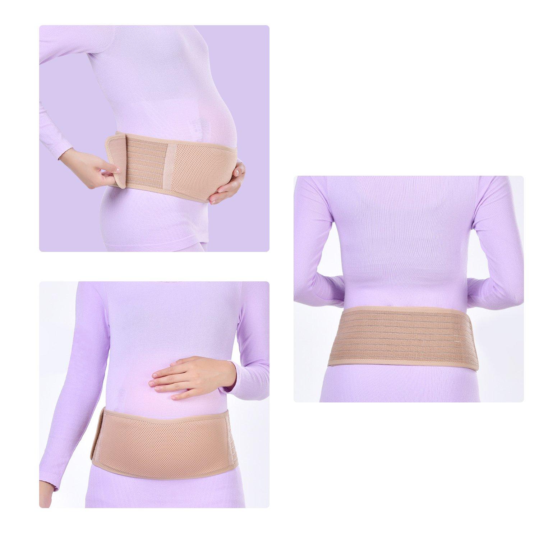 Vemingo Cinturón de Maternidad Cinturón de Apoyo para el Embarazo Banda para el Vientre Cinturón Abdominal Transpirable Cinturón de Respaldo/Cintura, ...