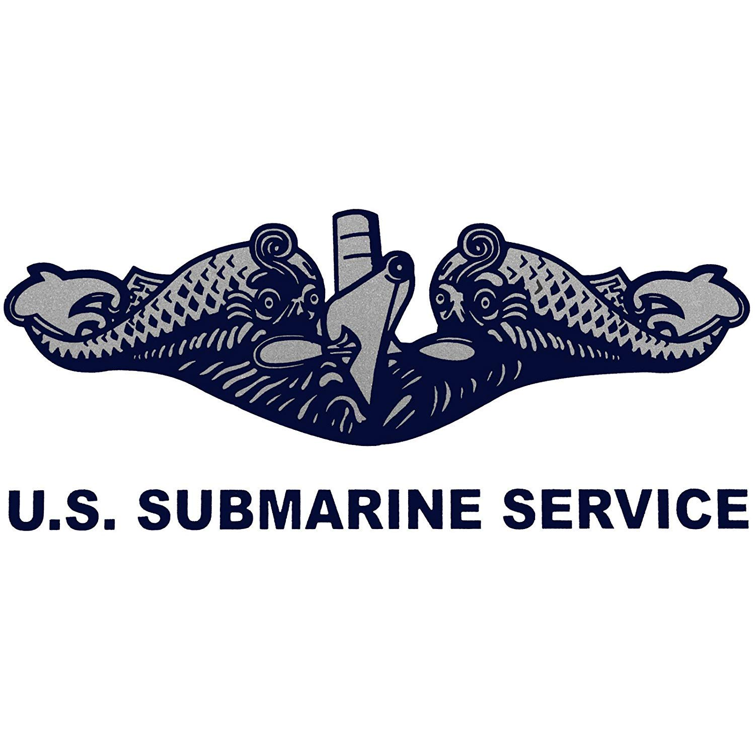 Submarine Service Decal US Navy Submarine Silent Service License Plate Frame Bundle with U.S