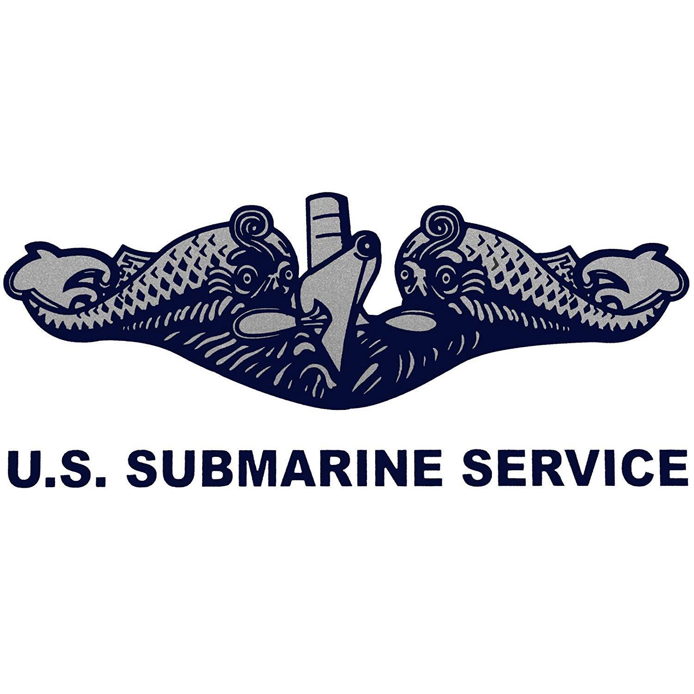 US Navy Submarine Silent Service License Plate Frame Bundle with U.S Submarine Service Decal