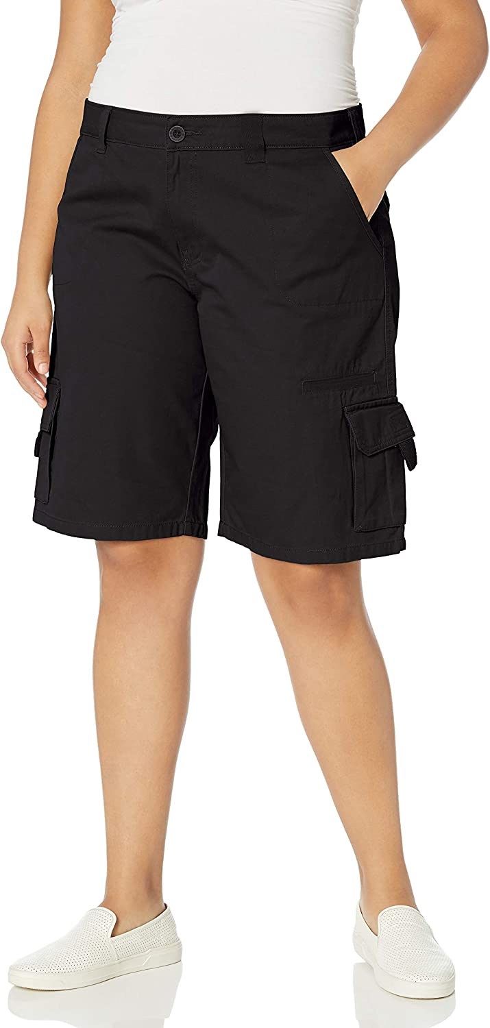 Dickies Womens Plus-Size 11-inch Relaxed Cargo Short