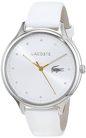 Lacoste Reloj Análogo clásico para Mujer de Cuarzo con Correa en Cuero 2001005: Amazon.es: Relojes