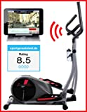 Sportstech CX610 professional crosstrainer with Smartphone App control + Google Street View, 18 KG inertia, HRC - Bluetooth - 32 resistance levels - hometrainer ergometer elliptical stepper