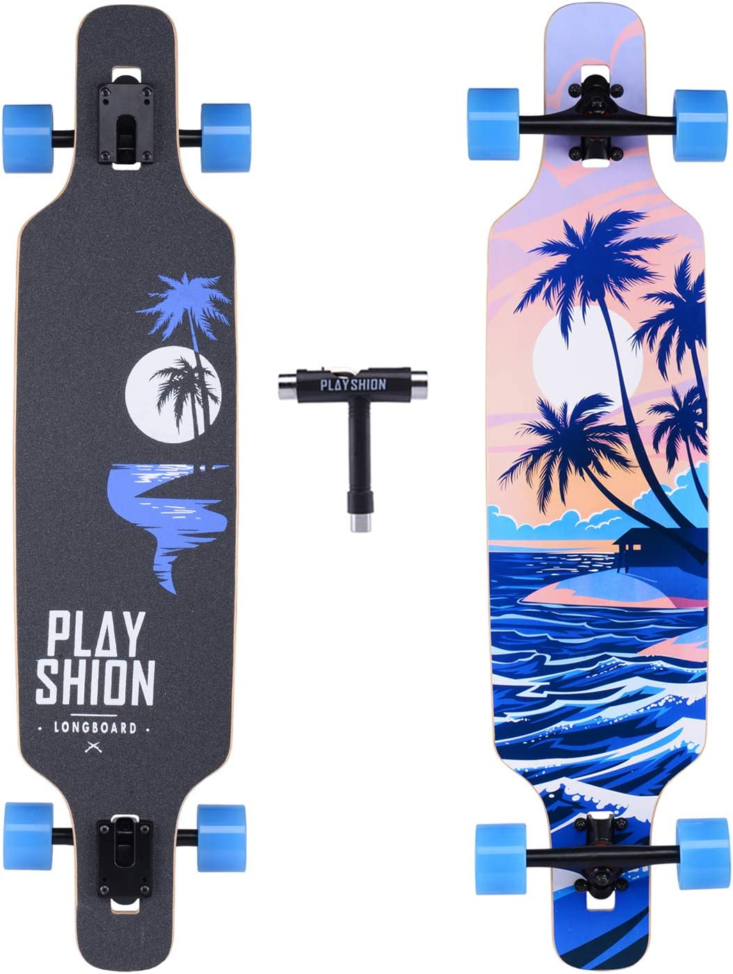 Playshion Longboard Skateboard