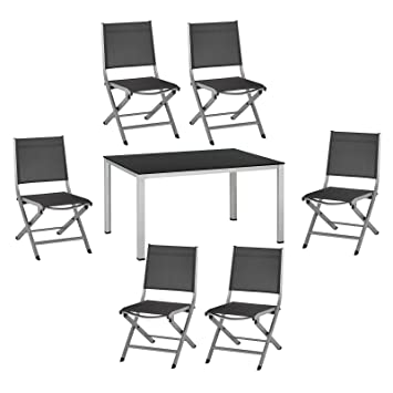 Amazon.de: 7-tlg. Kettler Gartenmöbel Set 1 Tisch 140x95 cm und 6 ...