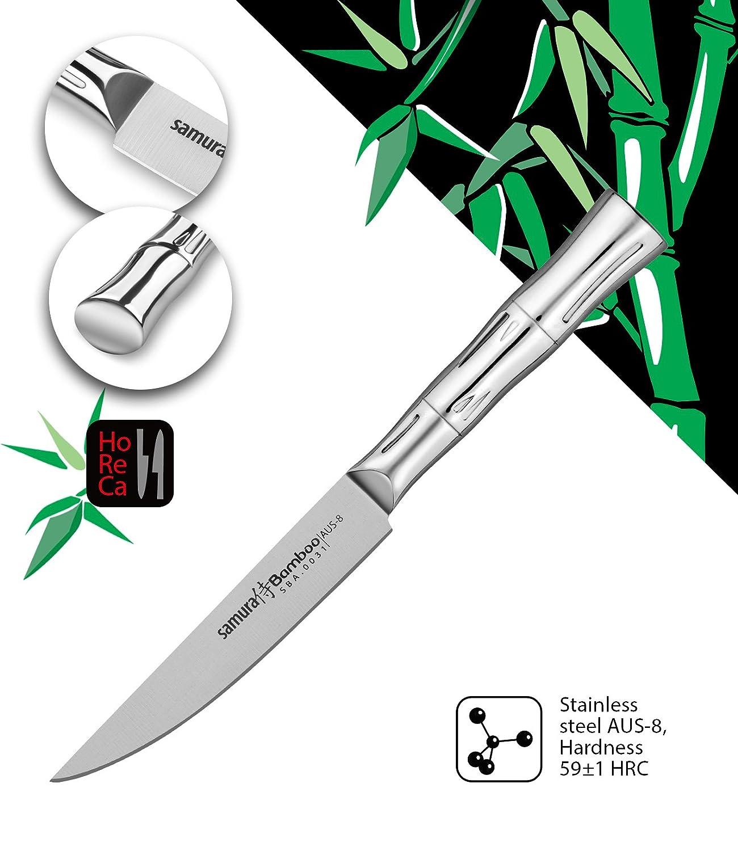 Samura Bamboo Professional Japanese Kitchen Steak Knife 5