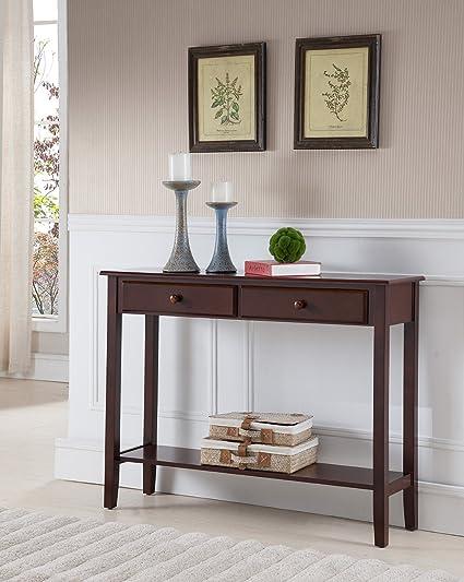Amazon Com Kings Brand Furniture Sawyer Wood Console Entryway