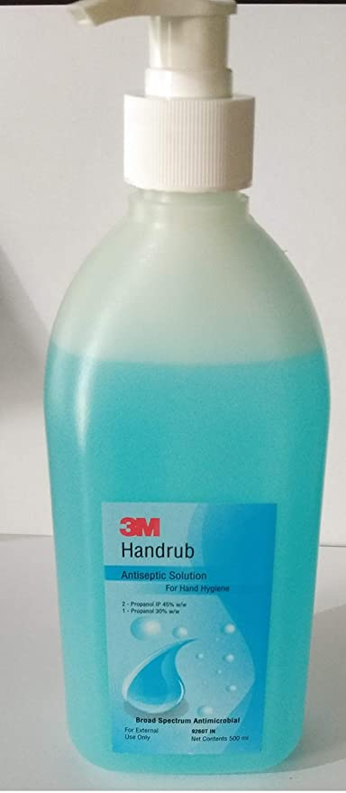Buy 3m Antiseptic Solution Hand Sanitizer 500ml Pack Of 2