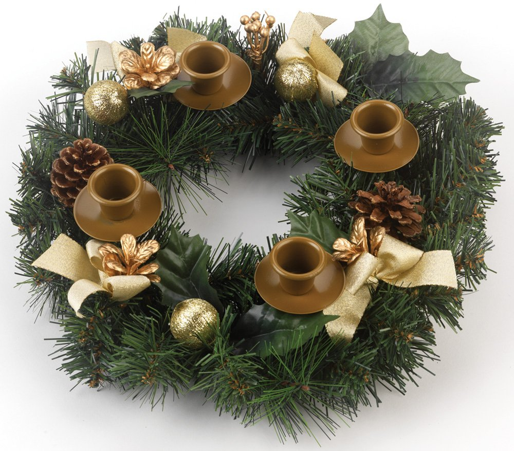 Traditional Pine Cone Advent Wreath by Vermont Christmas Company VC901