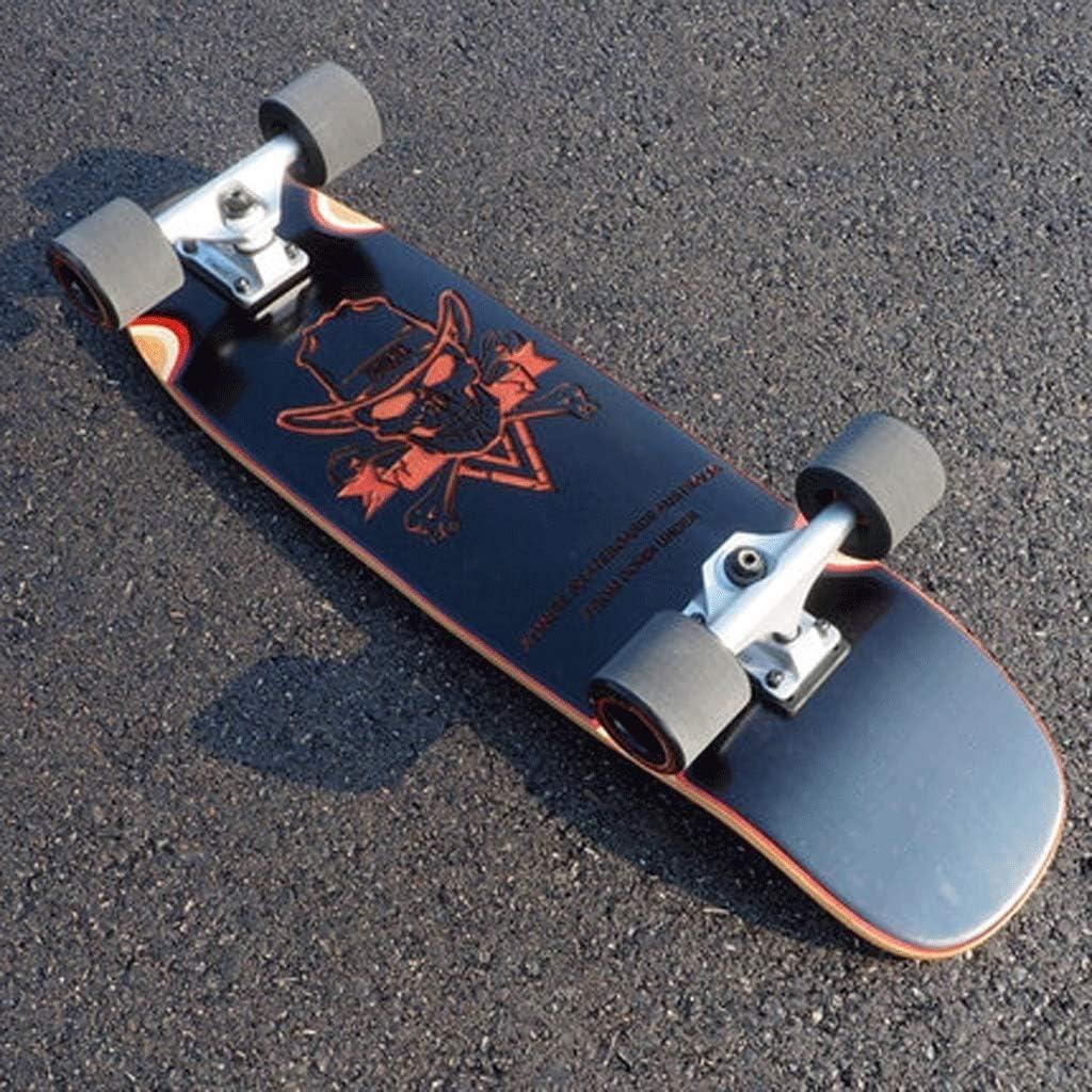YHDD 彫刻メープルビッグフィッシュボード大人ストリートスキル四輪スケートボード小魚旅行ハイウェイボード (Color : B) B