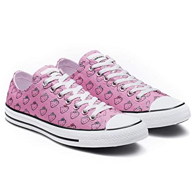 bf07d22374 Converse Chuck Taylor All Star Lo Hello Kitty Fashion Sneakers (6 M US  Women/