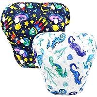 Storeofbaby Cubierta de pañales de bebé Nappy Pañal para recién nacido lavable Pantalones de piscina 0-3 años