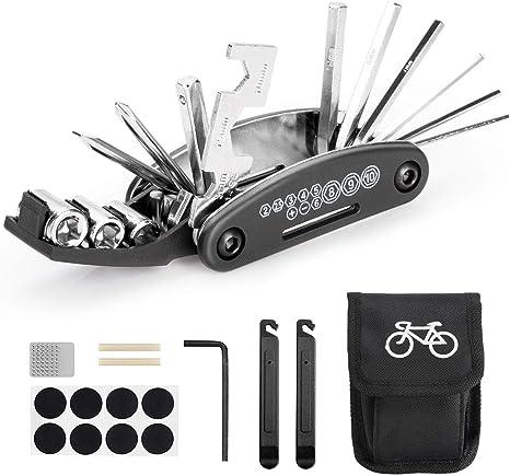 WOPUS - Multiherramienta para bicicleta, herramientas 16 en 1 para ...