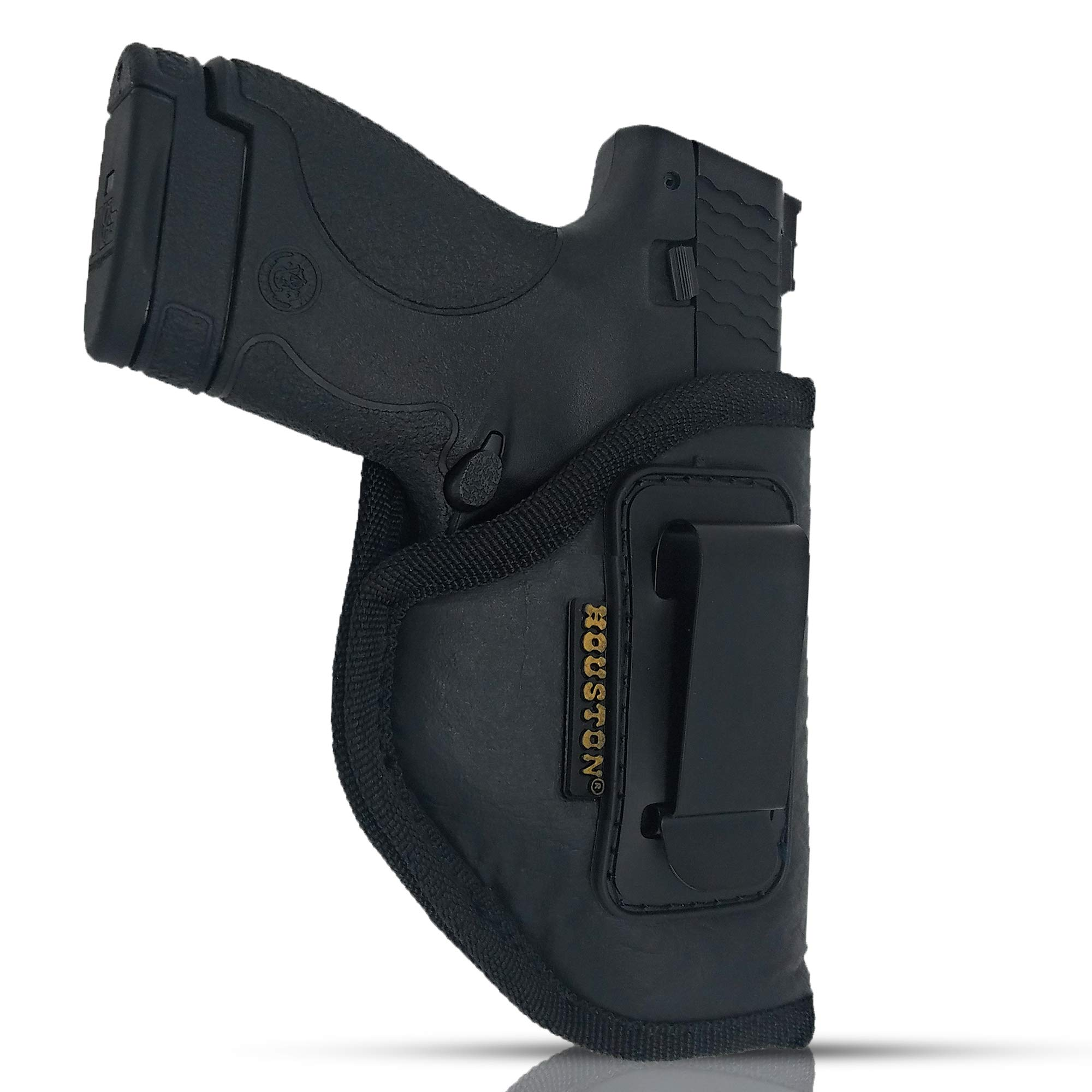 IWB Gun Holster by Houston - ECO Leather Concealed Carry Soft Material | Fits Glock 26/27/33, Shield, XDS, Taurus 709, Taurus Pro C, Walther P22, Beretta Nano, SCCY Sky.Ruger LC9 (Right Hand) by Houston Gun Holsters