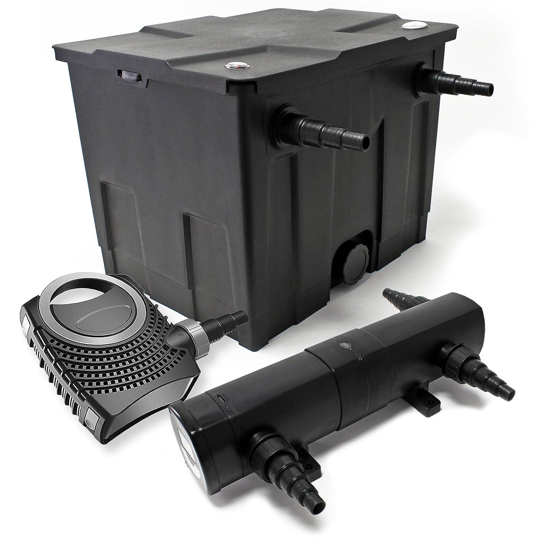 Kit de Filtration de Bassin Bio 12000l Stérilisateur UVC 18W 80W Pompe éco 54401
