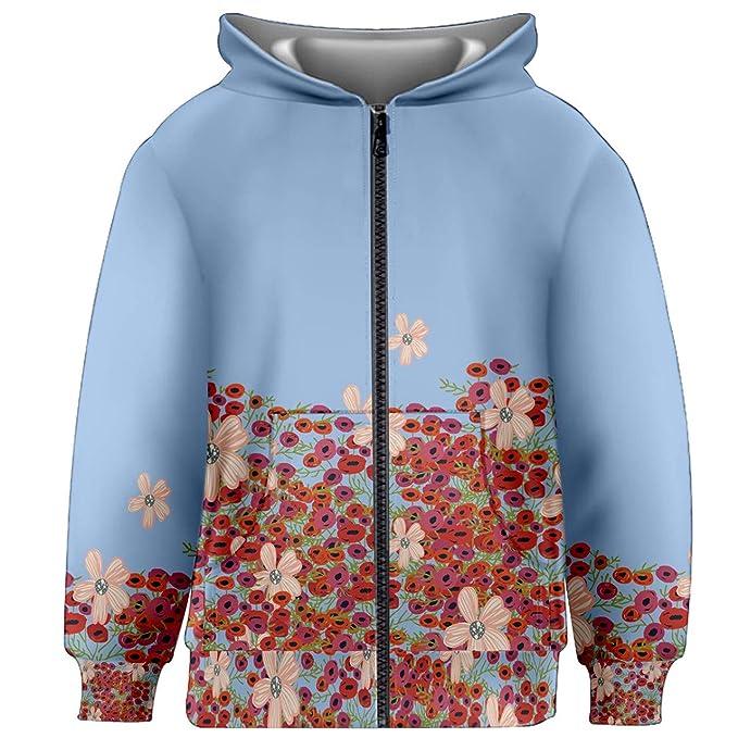 Amazon.com: pattycandy niños capucha y cierre chaquetas con ...
