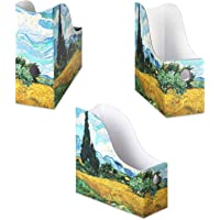 Sturdy Cardboard Magazine Holders, Folder Holders (3 Pack, Cypress Wheatfield), Stunning Impressions Design, Magazine…