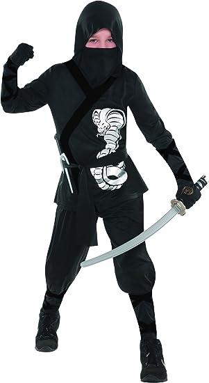 Amazon.com: Plateado Cobra disfraz de ninja – niño medium 6 ...