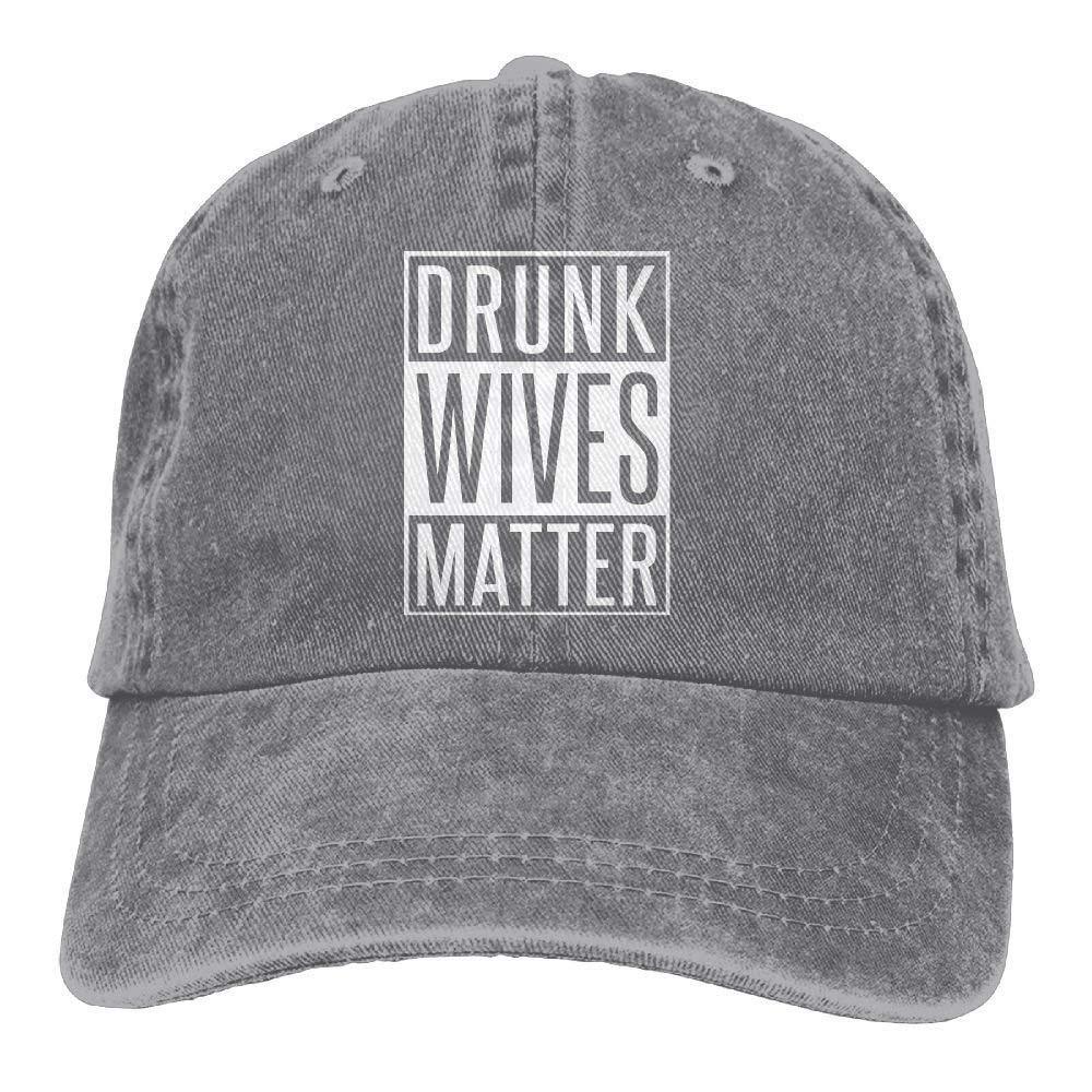 Drunk Wives Matter Denim Hat Adjustable Male Surf Baseball Caps JTRVW Cowboy Hats