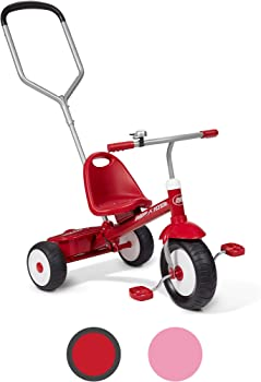Radio Flyer Deluxe Steer & Stroll Kids Tricycle