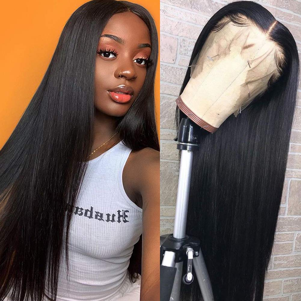 Hermosa Lace Front Human Hair Wigs 9A 150% 13x4 Brazilian Straight Human Hair Lace Frontal Wigs