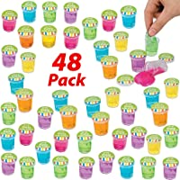 AbbyRose 48 Pack Slime Putty Party Favors | Bulk Mini Putty with Glitter for Boys and Girls | Novelty Toys, Pinata Filler, Slime Birthday Supplies