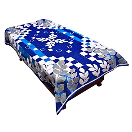 Kuber Industries Cotton Centre Table Cover Set - Blue