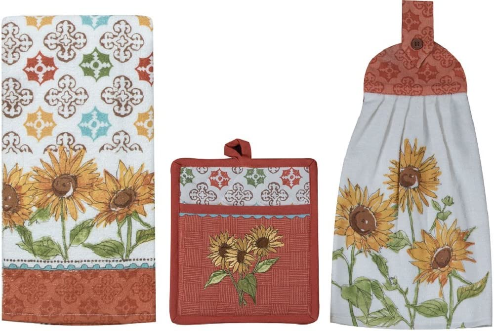 Kay Dee Designs Tuscan Elegance Pocket Mitt Bundle with Terry Tie Towel & Terry Towel