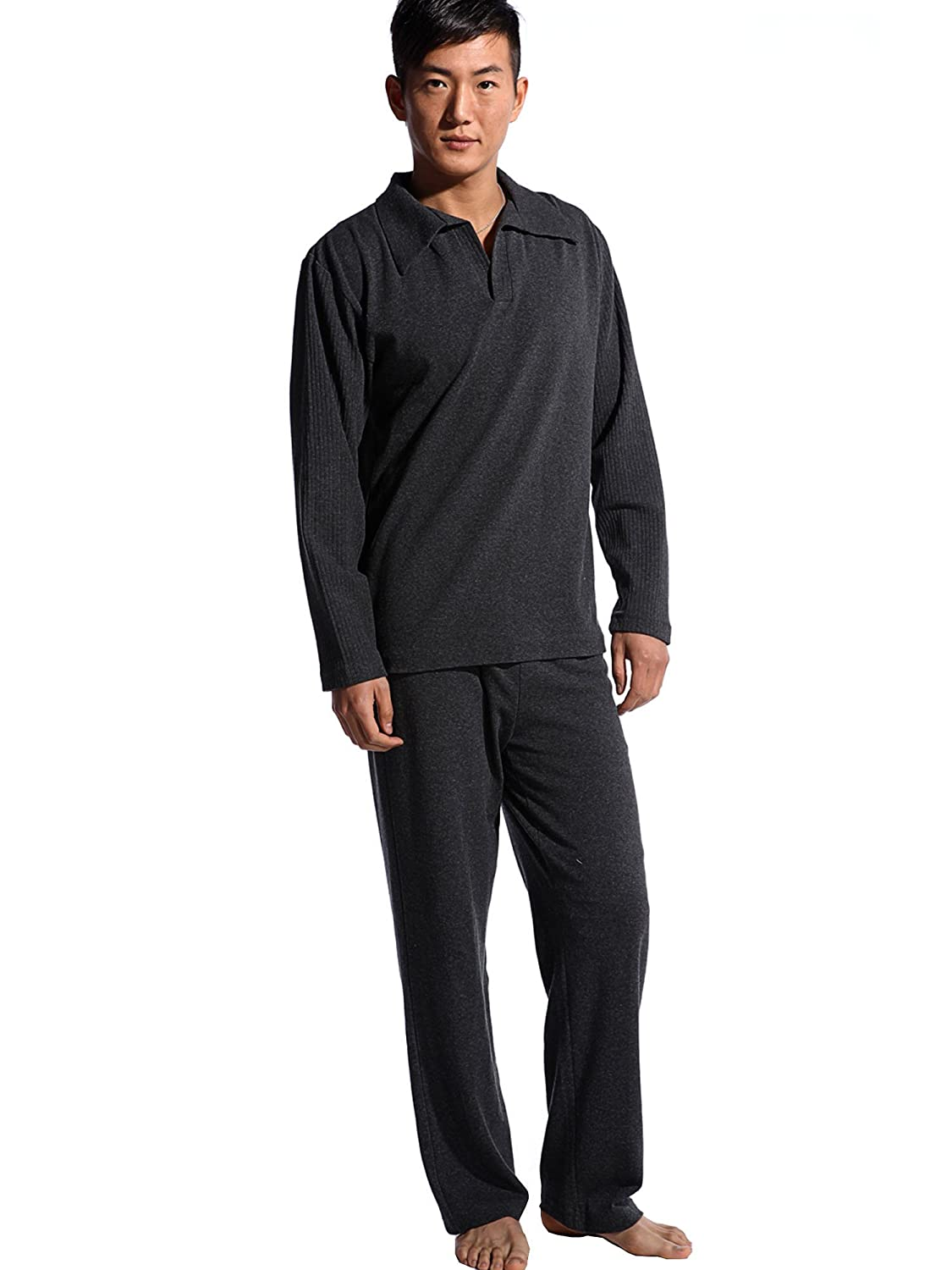 Godsen Men's Two Pieces Pajama Set Long Sleeve Sleepwear Sets 3227