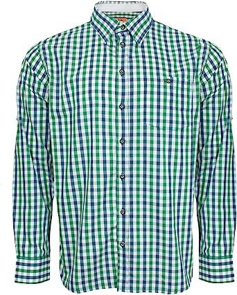 Traje Camisa Ludwig para Hombre Azul Verde Cuadrícula – Slimfit – Precioso Marca Camisa de Maddox para Pantalones de Piel.: Amazon.es: Ropa y accesorios