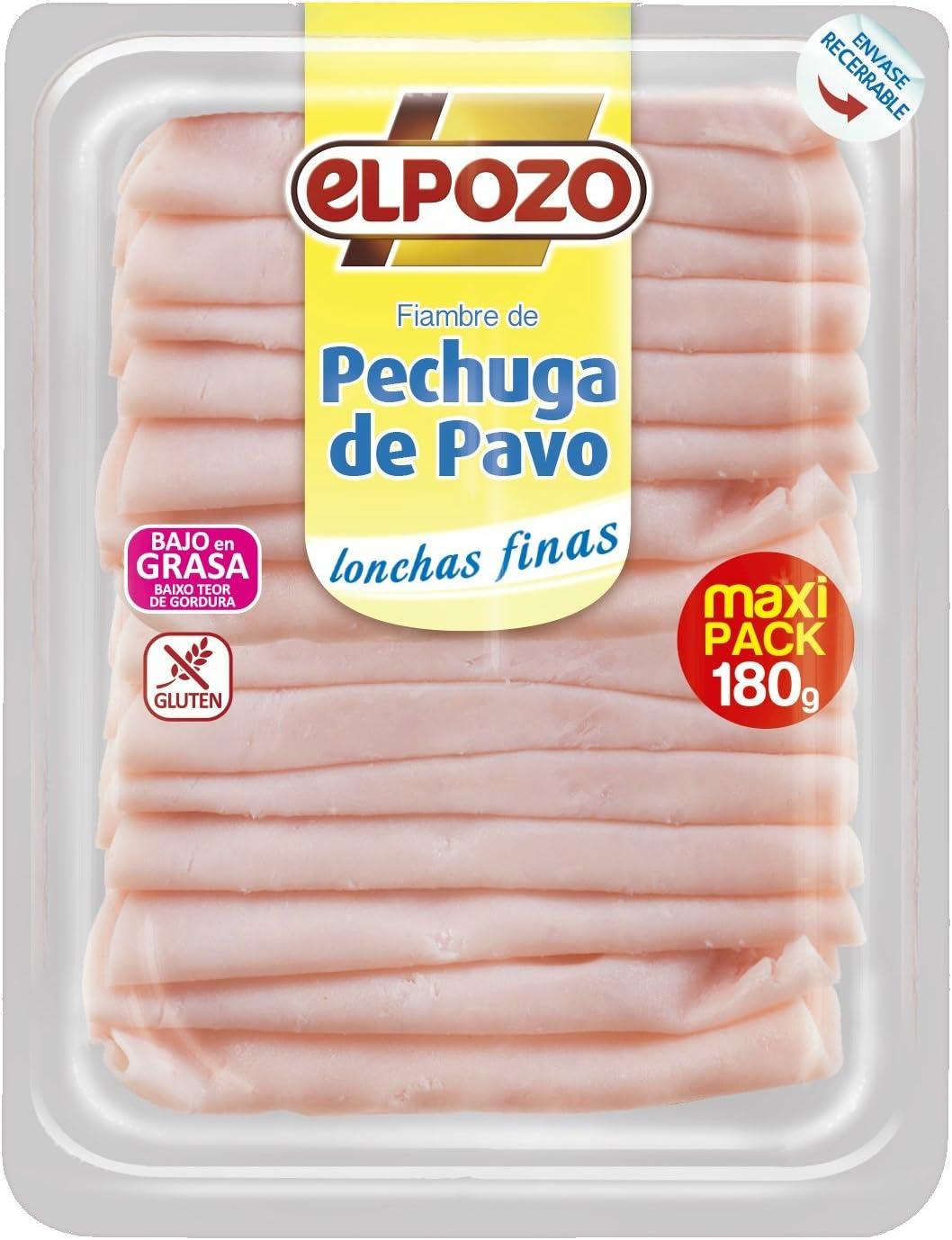 ElPozo Pechuga de Pavo Lonchas Finas, 180g