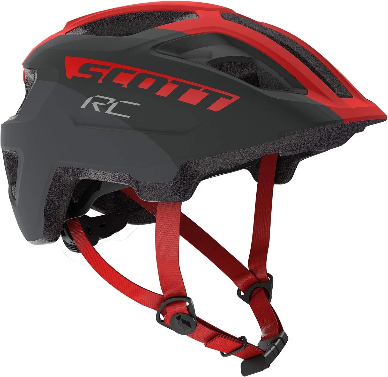 Scott 275232 - Casco de Bicicleta Unisex para niño, Color Gris y Rojo