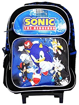 trolley cartable sonic the hedgehog sac a roulettes grand modele 40cm x 30cm