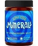Mineralien und Spurenelemente hochdosiert | Alpha Foods Minerals | Mit Ur-Essenz Shilajit | 100% frei von Zusatz- und Hilfsstoffen | Mischung maximal bioverfügbarer natürlicher Verbindungen | 450g Pulver