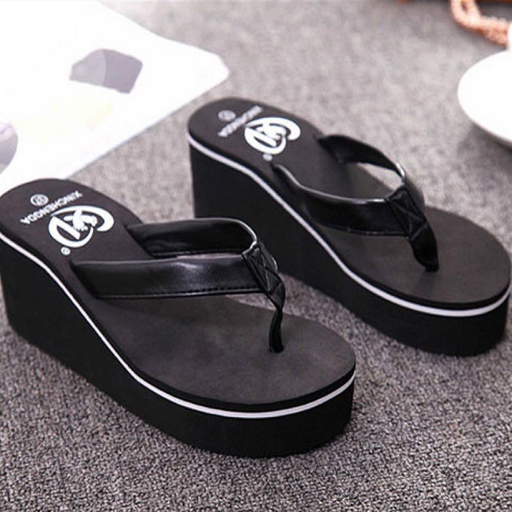 1214e34c96f85 CieKen Women Flip Flops Sandals Boho Muffin Slope Sandals - ifosud.org