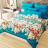 Home Candy Tropicana 152 TC 3-D Double Bedsheet with 2 Pillow Covers - Floral, Multicolour