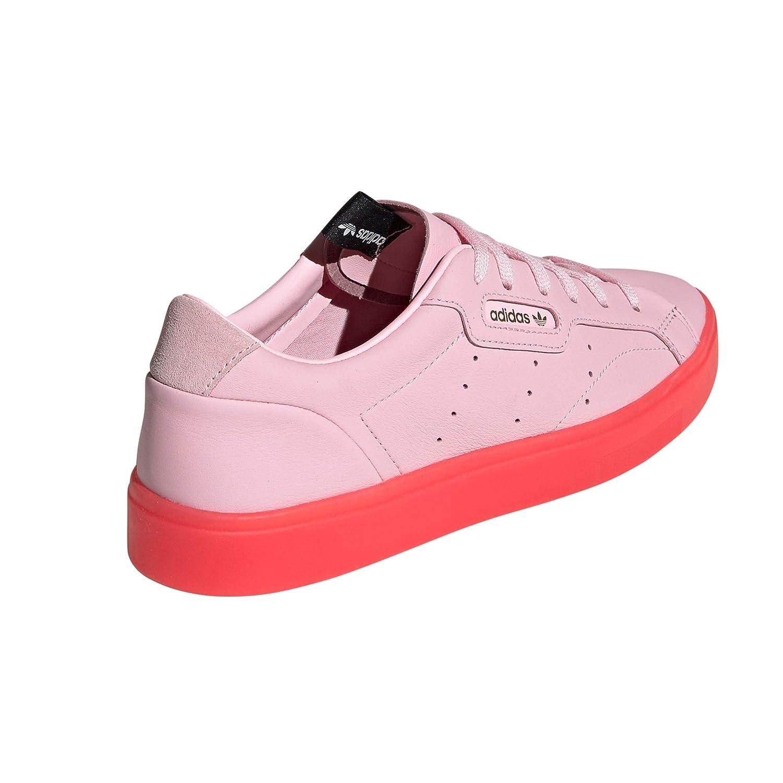 Amazon Turnschuhe Schuhe Rosa. und Weiß Sleek Adidas Damen