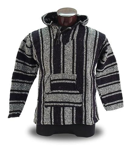 Amazon com: Baja Hoodie Jacket Pullover Drug Rug Outdoor Hippie