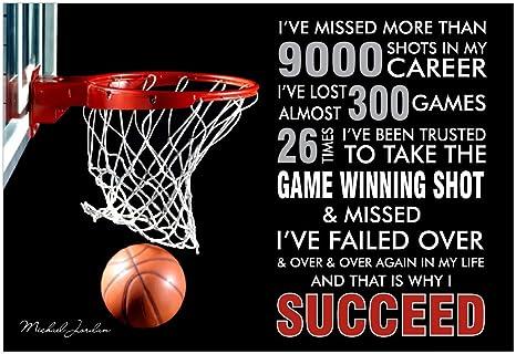Amazon.com: GodsGrace Michael Jordan Quote - Failure is Key ...