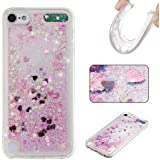 iPod Touch 5th / 6th Generation Case [with Free Tempered Glass Screen Protector], BoxTii® Elegant Rhinestone TPU Crystal Soft Gel Silicone Flexible Cover, Bling Glitter Design Slim Fit Anti-Scratch Shock Absorption Protective Back Case Cover Shell for Apple iPod Touch 5th / 6th Generation (#12 Love)